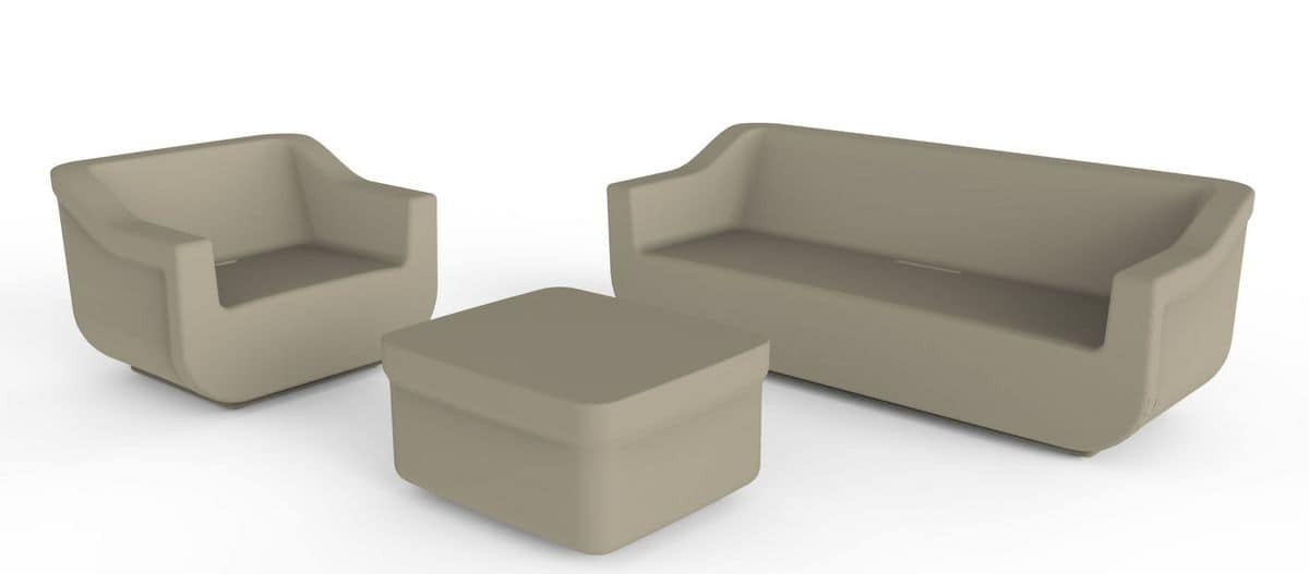 Cliff - D, Outdoor sofa, in printed polyethylene
