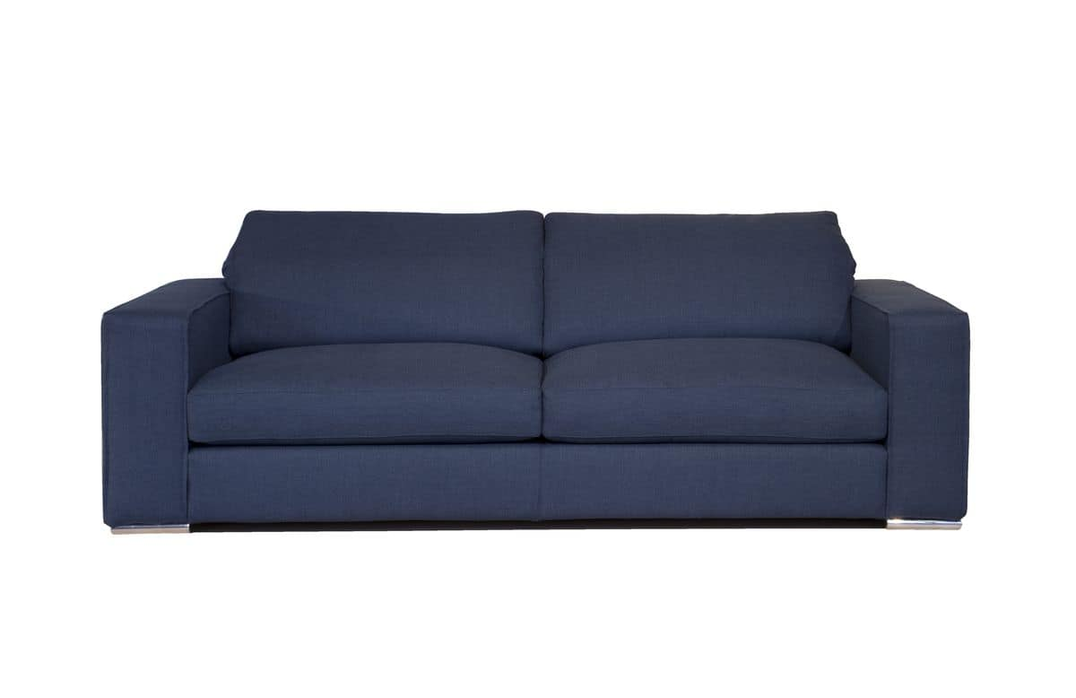Corinto, 2-seater sofa in fabric, suitable for modern living
