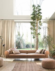 Déjà Vu, 3-seater fabric sofa