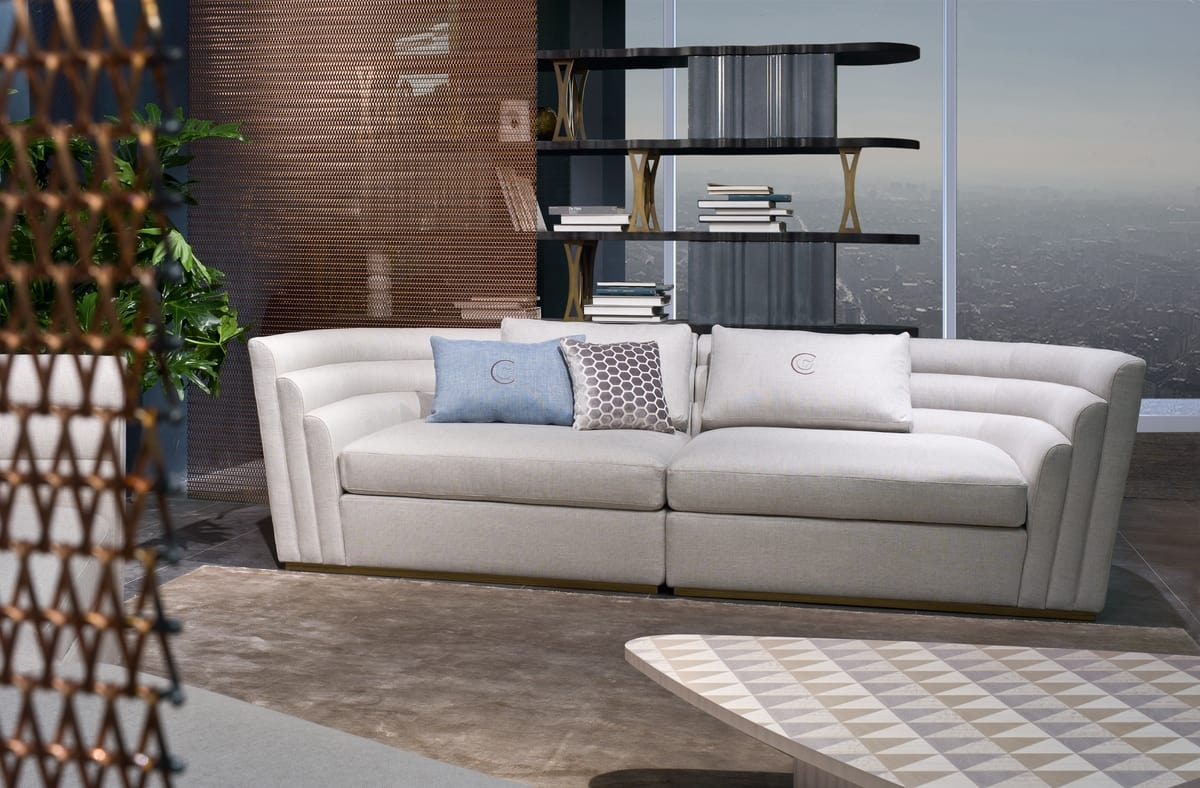 DI47 08 Theater sofa, 3-seater sofa with cotton covering