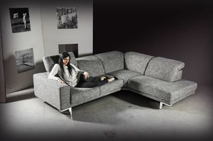 Dodo, Corner sofa upholstered in fabric