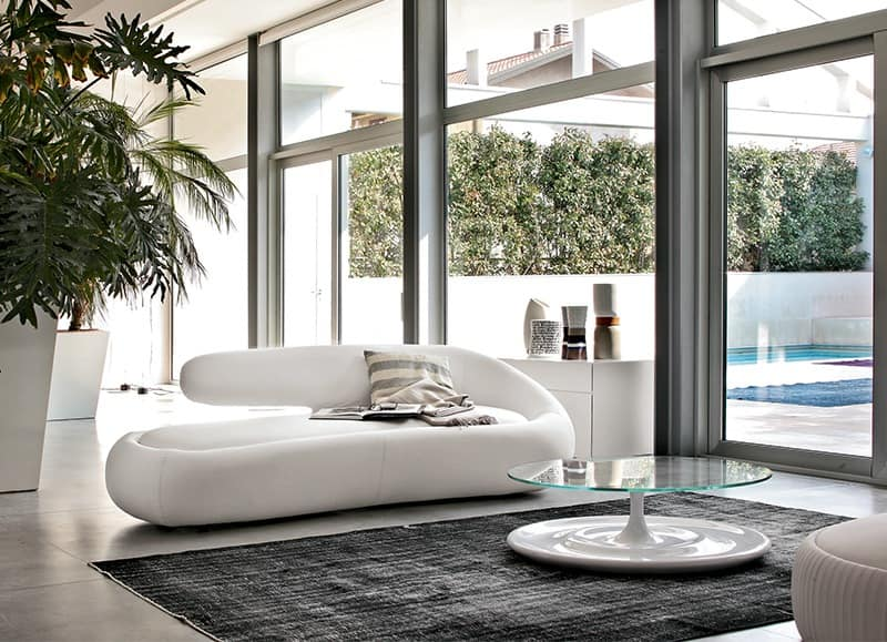 DUNY, 3 seater design sofa, various finishes, for waiting areas