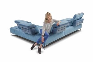 Galaxy, Corner sofa with adjustable backrest