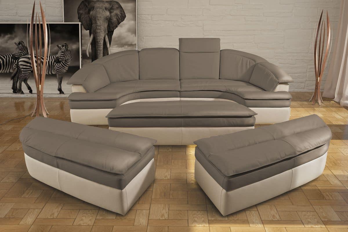 Modular sofa made of leather, bicolor | IDFdesign