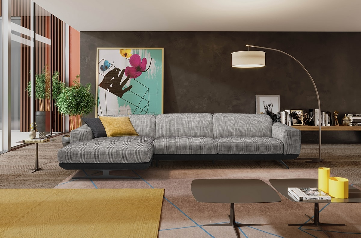Gloria, Relaxing sofa with an industrial style