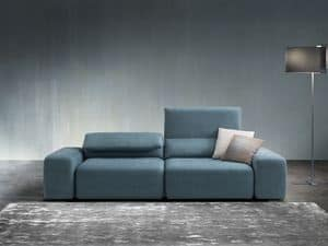 Gog�, Sofa with completely removable upholstery, with a contemporary design