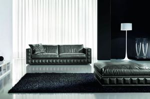Gordon Plus, Refined and elegant sofa, with removable cushions