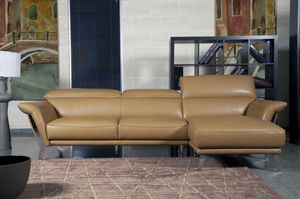 Heni, Modern leather sofa