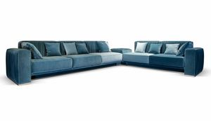 Herbin, Sofa with pleated fabric