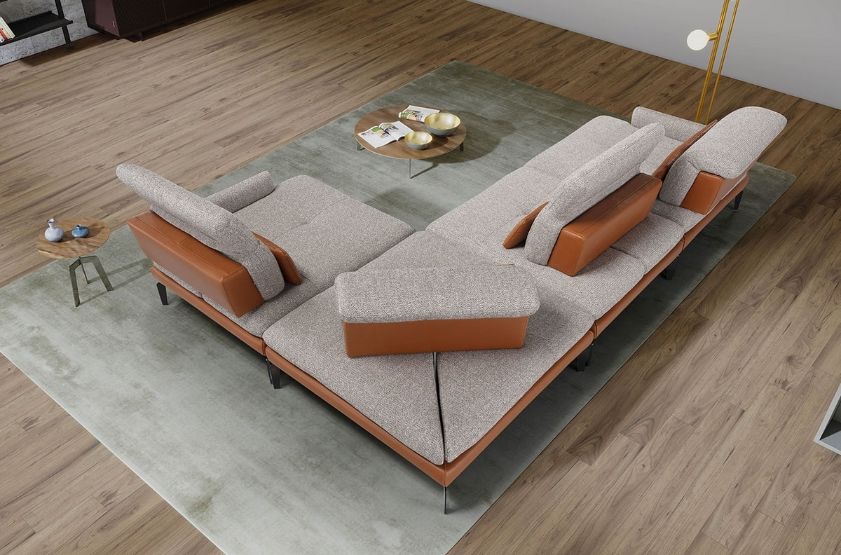 Jaclyn, Modular sofa, elegant and essential
