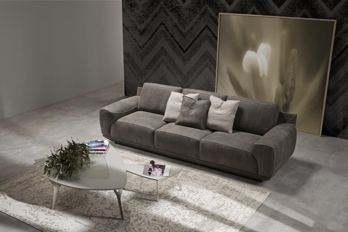 King Sofa With Internal Structure In Fir Plywood