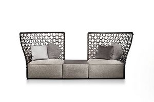 Lady C, Sofa with high decorative back