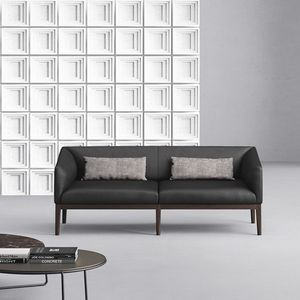 Life, Leather sofa with wooden legs
