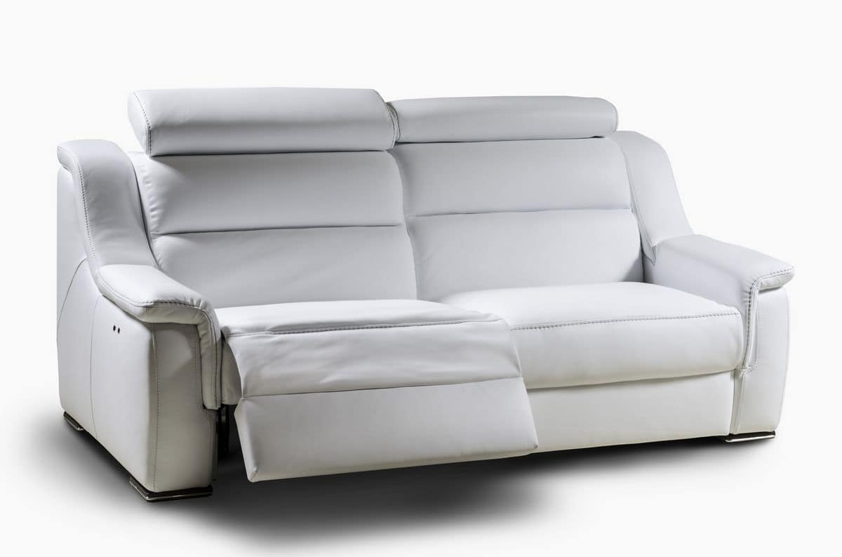 Lipari, Two Seater Sofa With Headrest, Reclining Backrest