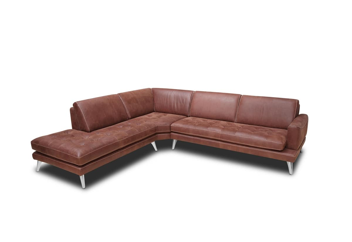 Overstuffed sofa in polyurethane, with quilted seat | IDFdesign