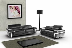 Maratea, 2-seater sofa with metal feet