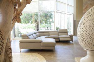 Megan, Corner sofa with chaise longue