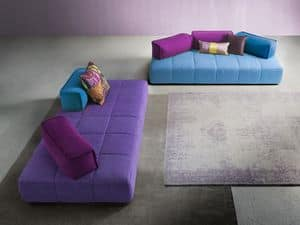 Moss, Sofa with a young design, with removable fabric