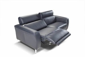 Nataly, 2-seater sofa with headrest