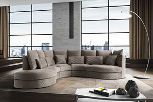 New York, Sofa with rounded shapes