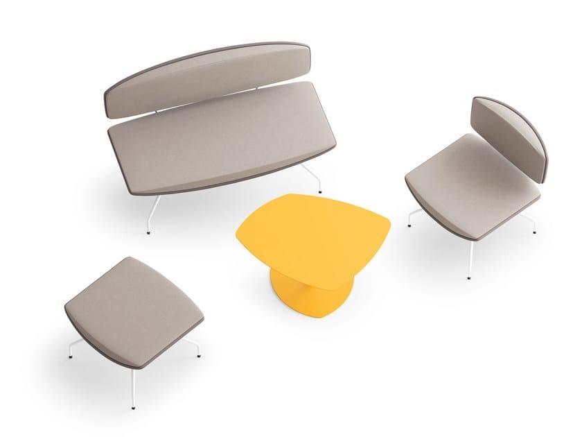 ONDA, 2-seater sofa for waiting rooms