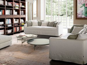 Otto, Sofa with low and slightly curved backrest
