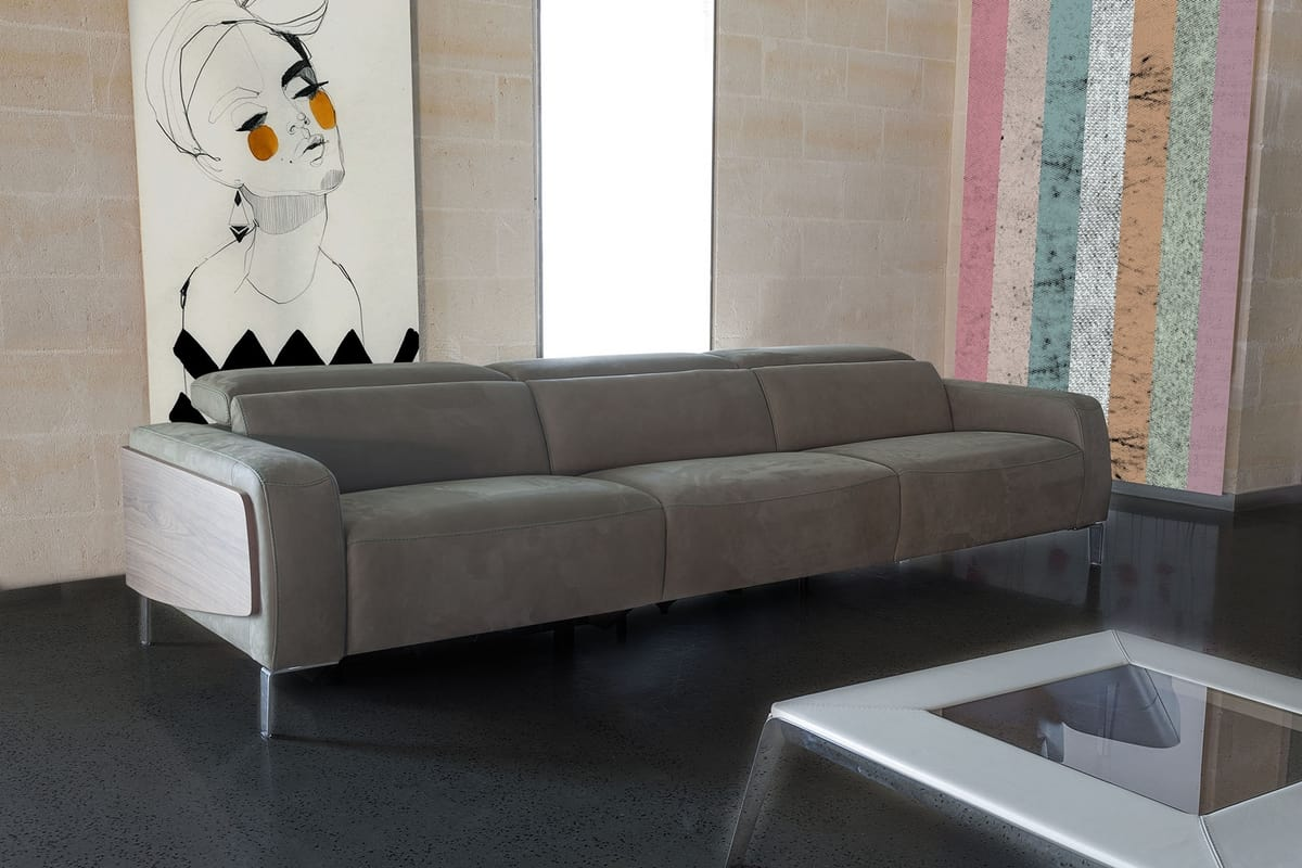 Passion, 3 Seater Sofa With Footrest