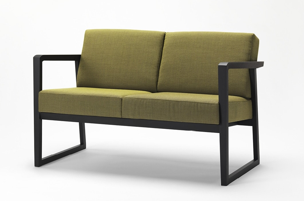 Pod sofa, Sofa with wooden structure