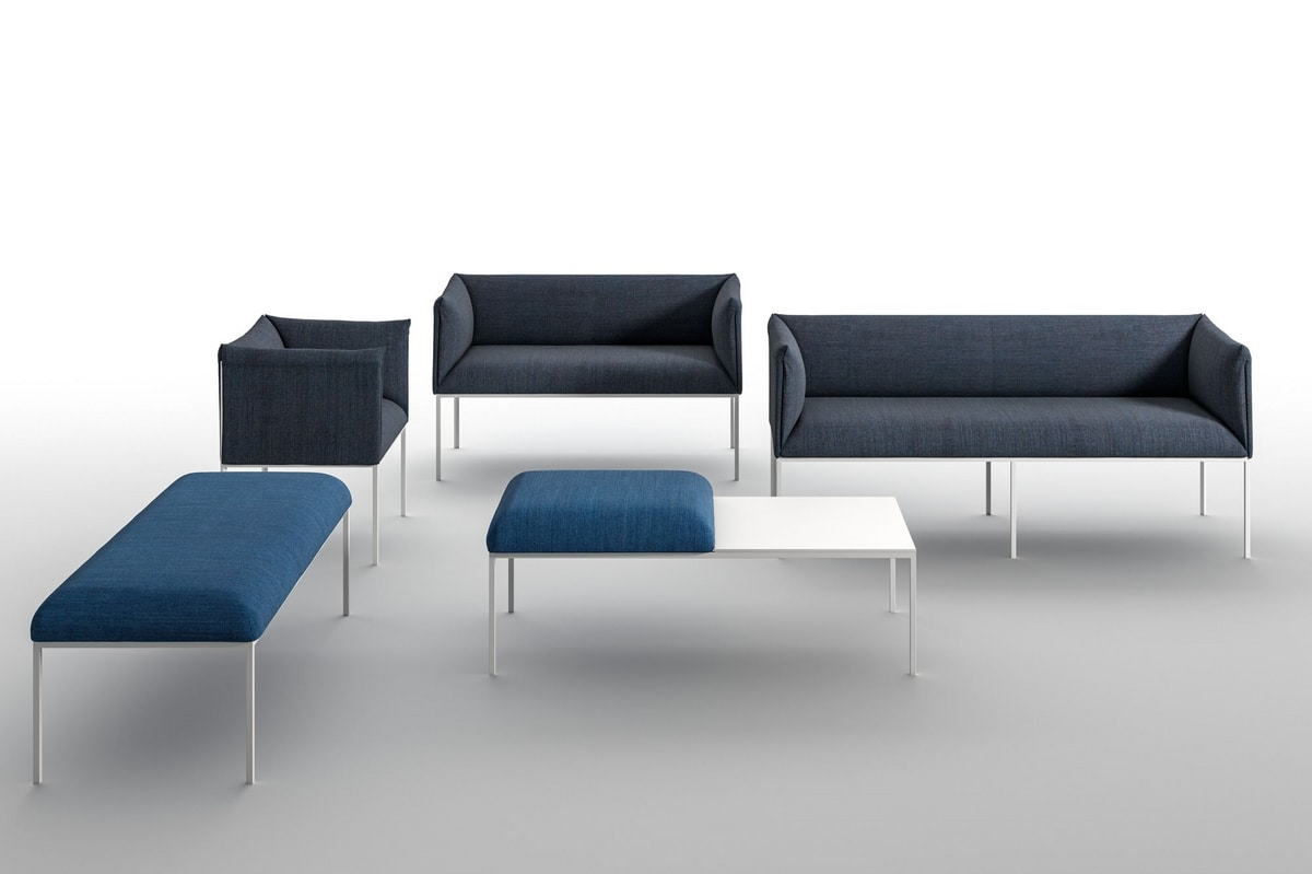 Sharp SO-L, Three-seater sofa with small dimensions