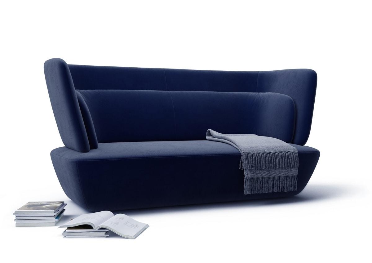 SOHO sofa, Sofa with rounded shapes