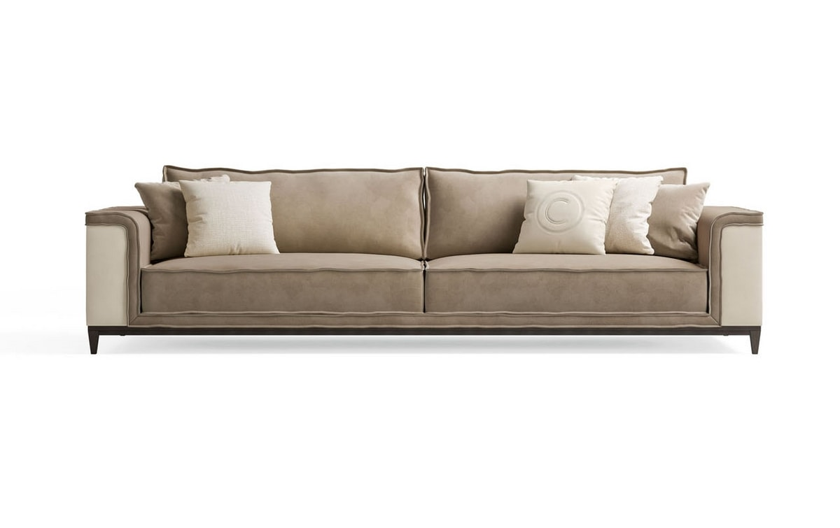 Starlight Art. ST770, Sofa upholstered in leather and nubuck