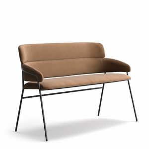 Strike SO, Fireproof padded two-seater sofa