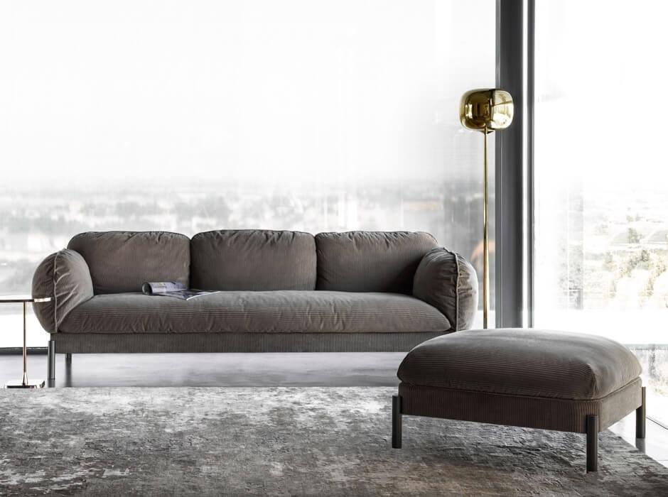 Tarantino Sofa, Sofa with a rounded design