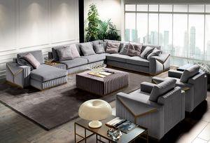 Tivoli, Sofa with metal decorations