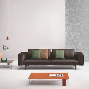 Todd, Modern sofa in leather or fabric