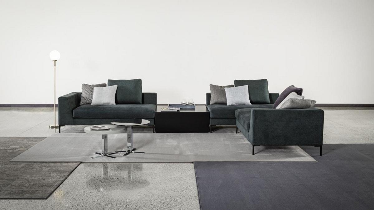 Tyler, Modern sofa with goose down backrest