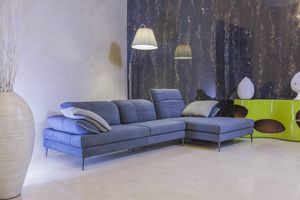 Wing, Fabric sofa with chaise longue