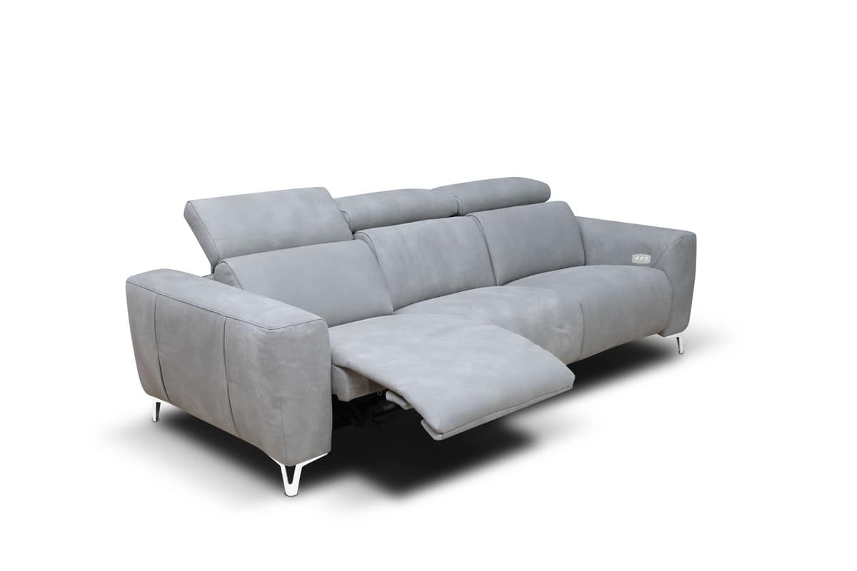 Zeus fixed, Sofa with headrest and footrest mechanism