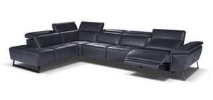 Zoe, Large corner sofa in leather