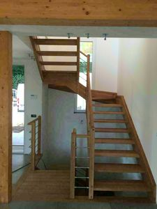 Art. G01, Open staircase in wood
