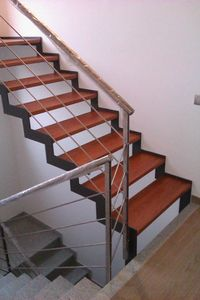 Art. G10, Open staircase with bands