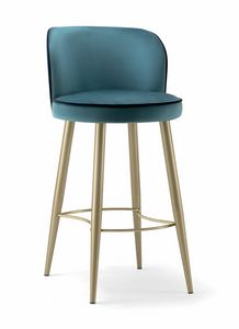 CANDY BAR STOOL 061 SGL, Elegant metal stool