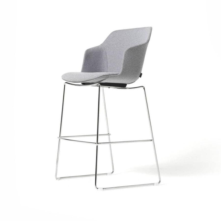 Clop stool sled base, Stool with sled base