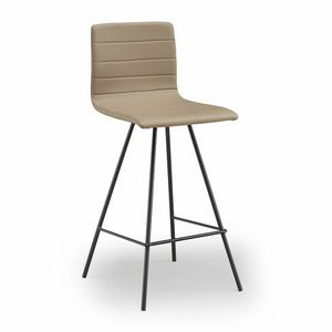 Firenze-SG, Metal stool, upholstered