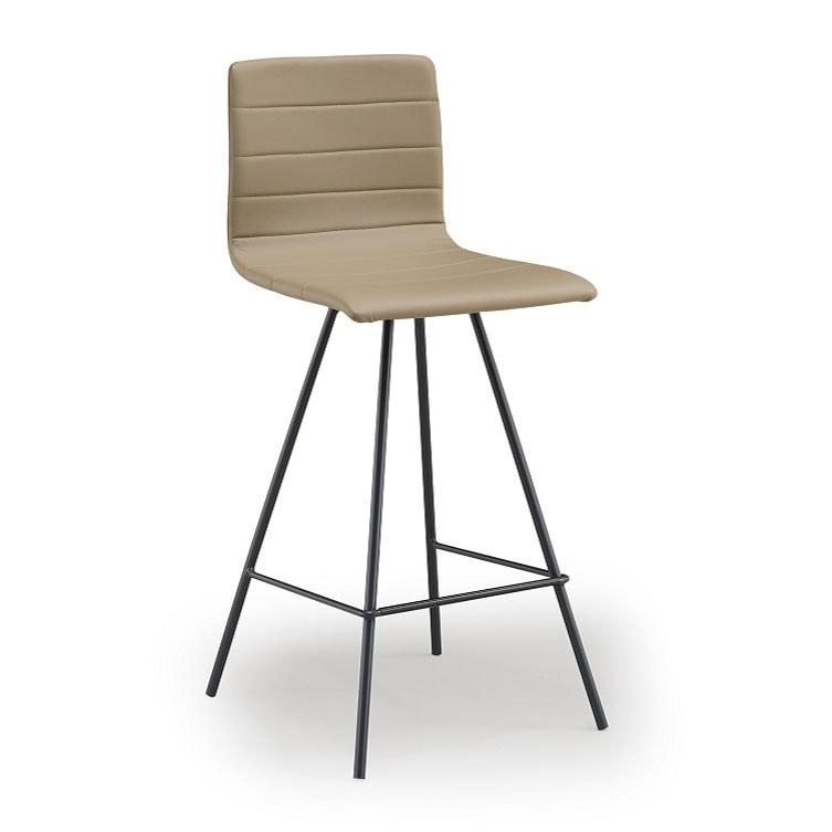 Firenze-SG, Metal stool, upholstered