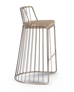 Gabby, Metal stool with padded seat