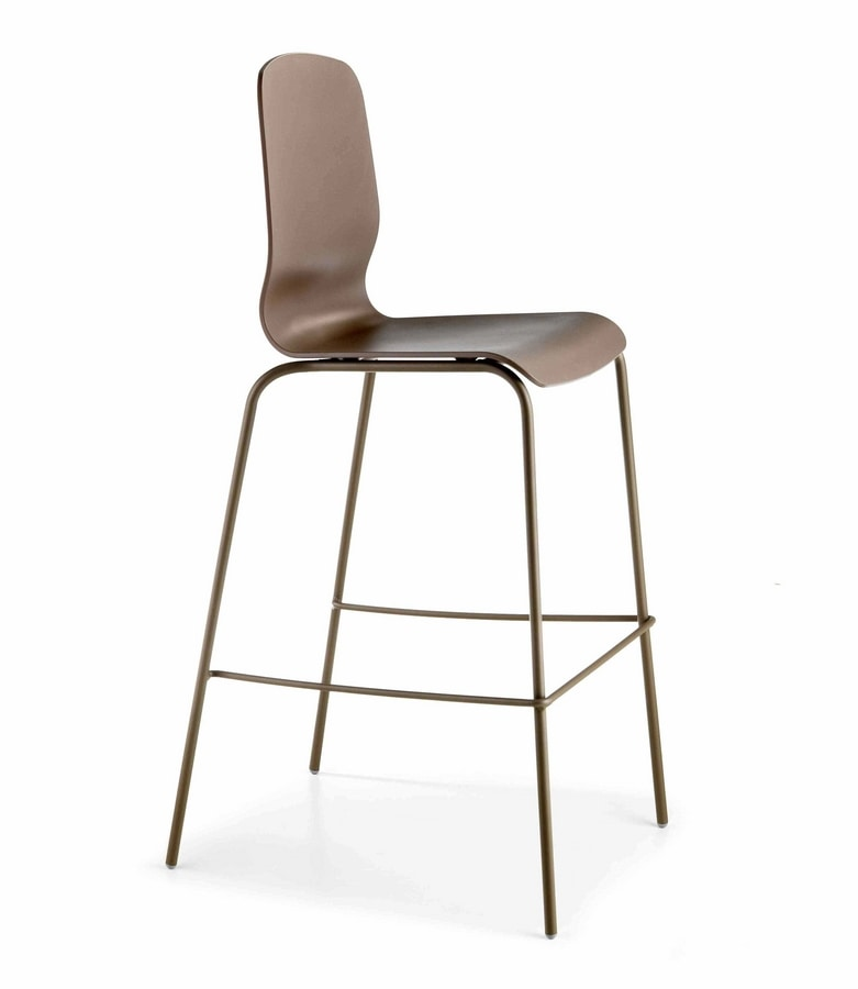 Glamour SG, Stool with technopolymer shell