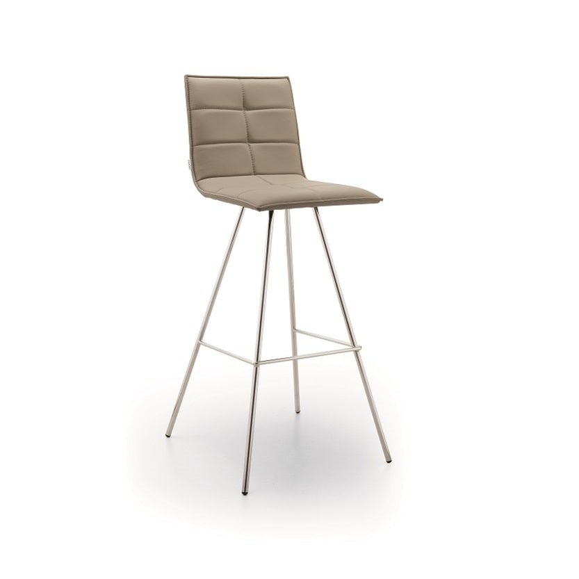Iris-SG65, Padded stool with metal legs