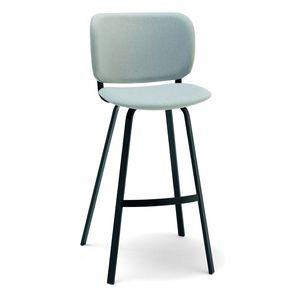 Lola SGF, Modern metal stool, upholstered