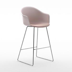 Máni Armshell plastic ST SL, Sled base stool
